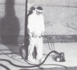 SQUIRREL-III at Kwajalein. Notice ventilated containments and respirator, protection were not required.