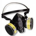 Respirators are a SECONDARY means of protection, according to O.S.H.A. (Image: CDC, public domain)