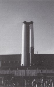 Con Ed's 125-foot-high steam dispersion stack in Astoria, New York
